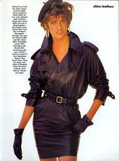 US Vogue September 1990 Linda Evangelista by Patrick Demarchelier and Carlyne Cerf
