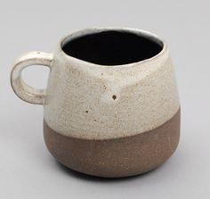 WHEEL CERAMIC COMPANY: Mug, Dark Brown Clay with Grey Glaze