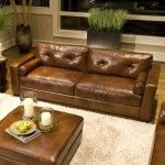 Elements Fine Home Furnishings - Soho Top Grain Leather Sofa in Rustic - SOH-S-RUST-1  SPECIAL PRICE: $1,689.99