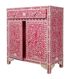 Pink Mother of Pearl Cabinet