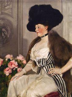 Portrait of the Lady Friend of Ryan (Mary Lord Townsend Cuyler) (Joaquin Sorolla y Bastida - 1913)