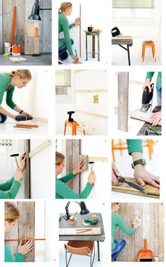 #DIY Wall out of scrap wood - http://www.101woonideeen.nl/blog/alle-site-sites-woonnieuws.html