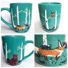 Woodland Coffee Mug - Fox, Bear and Owl