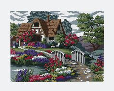 House in the garden. Picture size:14 x 10 1/2. Bead colors: 30.Price (follow website)