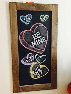 My Valentines Chalkboard Art