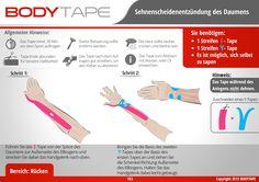 Sehnenscheide Tapen - Schritt für Schritt ⚠️ Mehr unter: www.bodytape.net