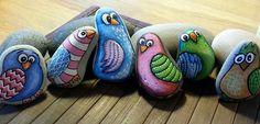 Malede sten  - fugle