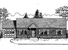 Home Plans HOMEPW03170 - 1,260 Square Feet, 3 Bedroom 2 Bathroom Colonial Home with 2 Garage Bays. diff supplier