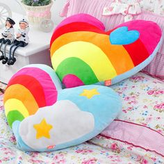 rainbow baby cushionz