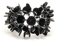 Zenith cuff ~ Emma Jane Donald Sterling silver, powder coated matt black