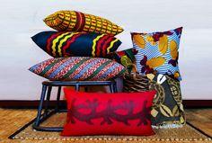 Vibrant decor culturally inspired. Throw pillows made with Ankara|African Dutch Wax fabric.