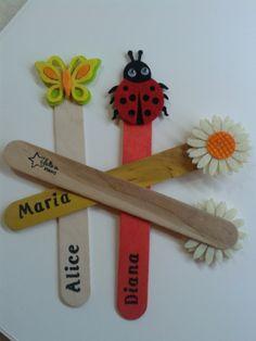 Segnalibro con tappi personalizzati con qualsiasi immagine e nome realizzato a mano per comunione, compleanno, battesimo! di Dienneidee su Etsy