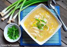 Sweet Corn Chicken Soup - We ate soup like this all the time at Chinese restaurants in India!