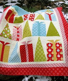 Gifts and trees #quilt