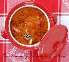 Zupa pomidorowa z owocami morza