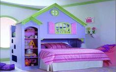 Cute Kids Girls Room Painting Ideas Blue Painted