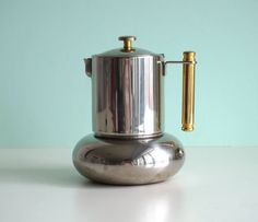 Lavazza Stovetop Coffee Maker : Vintage stainless steel stovetop espresso maker, Italian express coffeepot 6 cups, GB coffee ...