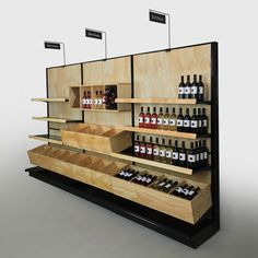 Liquor Store Commercial Wine Racks | Wood Gondola Shelving