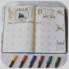 Bullet journal monthly, Harry Potter. Great fun!