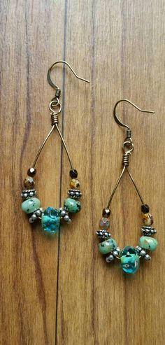Check out this item in my Etsy shop https://www.etsy.com/listing/241888134/african-turquoise-earrings-along-with