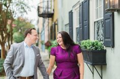 Rainbow Row engagement photos
