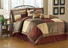 7 Piece Queen Sequoia Bedding Comforter Set