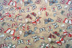 NB17 2294-052 Tricot vlinders donkerbeige