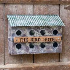"The Bird Hotel"""" Wall-Mounted Birdhouse"