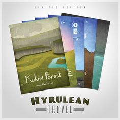 Hyrulean Travel Posters - for Anna