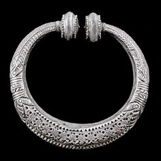 India | Silver Armlets (sold as a pair) from Himachal Pradesh | Circa Early 20th Century | 640£ for the pair