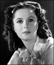 """Geraldine Fitzgerald (24 November 1913 – 17 July 2005) as Isabella Linton in """"Wuthering Heights"""" , 1939 age 26"""