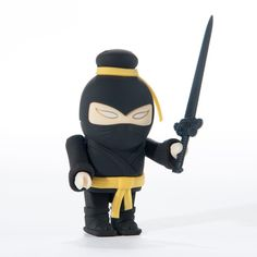 This master of stealth is ready, willing and able to help you address and attack your data storage woes. An 8GB USB drive is tucked beneath the kung fu master's clothes and various accouterments. Available from the MCA Store: http://www.mcachicagostore.org/shop/kung-fu-usb-37471