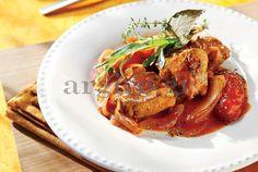 Μοσχάρι με σάλτσα μουστάρδας squeeze απαλή Kalamata Papadimitriou & πομοντόρια