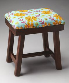 Another great find on #zulily! Yellow Floral Stool #zulilyfinds