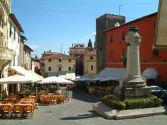 The beautiful town of Montecatini in Italy