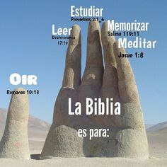 La biblia es para: Oir, leer, estudiar, memorizar , meditar! ツ