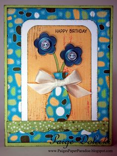 CTMH Footloose birthday card by Paige Dolecki.