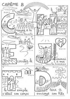 Temps de carême et de Pâques Temps Le CARÊME EST: 40 jours verser soi Préparer à la fête de PÂQUES . 40 jours verser se retourner vers Dieu. Jésus Nous Donne PLUSIEURS Moyens versez avancer: la prière, le partage, le jeune et le pardon Donné et Reçu.... Faith Crafts, Première Communion, Religion, Christian Resources, 9 And 10, Activities For Kids, Catholic, Prayers, Diagram