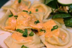 lobster ravioli in champagne cream sauce - for my tasting plates!