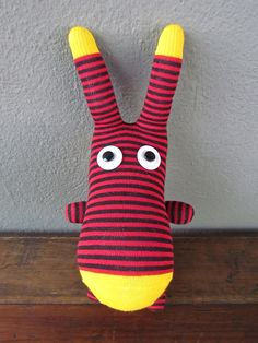 jeremy the sock doll - sewn + stitched with love