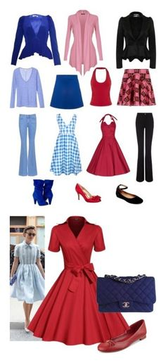 Inverted triangle style by resmithekkedath on Polyvore featuring polyvore fashion style M.i.h Jeans STELLA McCARTNEY Pilot Kenzo Project D London Miss Selfridge Mata Traders Être Cécile Steve Madden Nina clothing Retrò Tommy Hilfiger Chanel