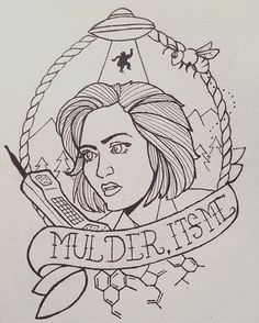 Distracting myself with X-Files tattoo doodles. #scully #xfiles #thexfiles #danascully #xfilestattoo #iwanttobelieve #thetruthisoutthere #drawing #art #illustration #design #penandink