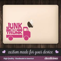"Big Booty Vinyl Decal - Dump Truck ""Junk in the Trunk"" - Funny by decaliciouscom on Etsy"