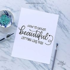 Modern Calligraphy For Beginners. Learn How to Make Beautiful Letters. Modern Calligraphy Tutorial, Calligraphy Worksheet, Hand Lettering Tutorial, How To Write Calligraphy, Calligraphy Handwriting, Beautiful Calligraphy, Beautiful Lettering, Neat Handwriting, Calligraphy Quotes