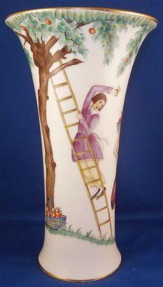 Rare Original Period Augarten Vienna Art Deco Porcelain Vase Porzellan Wien #AustrianAugarten