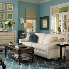 Teal Decor for Living Room. 35 Lovely Teal Decor for Living Room. Living Room Turquoise, Teal Living Rooms, Living Room Paint, Living Room Sets, Home And Living, Living Room Designs, Living Room Decor, Turquoise Walls, Small Living