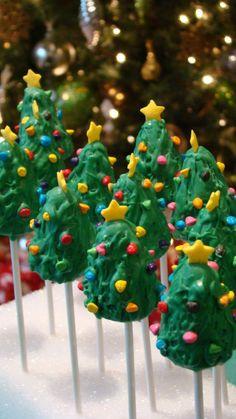 """Christmas Tree Cake Pops"""