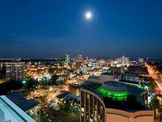 Darwin city by night