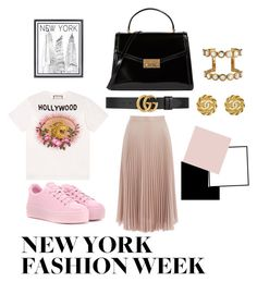 """""""Streets in NY"""" by emma-lekander ❤ liked on Polyvore featuring Warehouse, Kenzo, Gucci, Tory Burch, Chanel and Stephenson"""