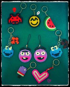 Keyrings  hama beads by El Rincón de BELAME